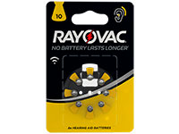 Rayovac 10AU - Hearing Aid Button Cell Battery - 8 Units - 5000252003809