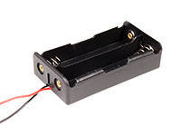 Battery Holder for 2 x 18650 Batteries - with Cable