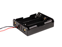 Battery Holder for 3 x 18650 Batteries - with Cable