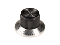 6 mm black control knob - 24 mm diameter with scale