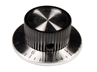 6 mm black control knob - 37 mm diameter with scale