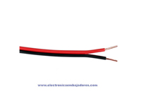 Red and black polarized parallel cable 2 x 0.25 mm²