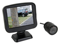 Parking assistance camera with colour screen