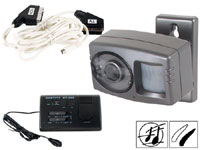 Water-resistant BW camera with TV switch unit