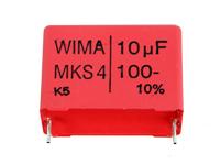 Condensador MKT Encapsulado 10 µF - 100 V - Raster 27,5 mm - MKS4-10U/100