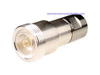 "7/16 DIN Female Straight Cable-Mount Connector - ½"" CELLFLEX Corrugated Cable"