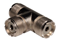 3 Way UHF Female Adapter