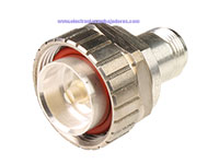 7/16 Male to N Female Connector Adapter - A-AD-716-N-07-50