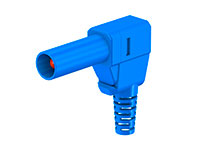 MULTI-CONTACT SLS425-SW 22.2667-23 - 4 mm male right angle mount safety banana - blue