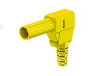 MULTI-CONTACT SLS425-SW 22.2667-24 - 4 mm male right angle mount safety banana - yellow