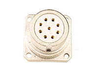 BHE20B10 - Connecteur Circulaire Taille 20 Chassis Femelle 10 Pôles - 920225DS