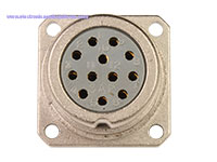 BHE20B12 - Connecteur Circulaire Taille 20 Chassis Femelle 12 Pôles - 9202212AFS