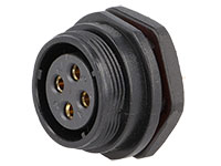 WEIPU SP21 Series IP68 - Conector Estanco Ø21 Hembra Base Panel 4 Contactos - SP2112/S4