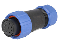 WEIPU SP21 Series IP68 - 9 Contacts Ø21 Waterproof Female Cable-Mount Connector - SP2110/S9