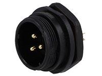 WEIPU SP21 Series IP68 - Conector Estanco Ø21 Macho Base Panel 3 Contactos - SP2112/P3