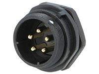 WEIPU SP21 Series IP68 - Conector Estanco Ø21 Macho Base Panel 5 Contactos - SP2112/P5