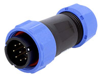 WEIPU SP21 Series IP68 - Conector Estanco Ø21 Macho Aéreo 9 Contactos - SP2110/P9