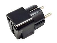 SCHUKO type Universal Plug Adaptor - Grounded