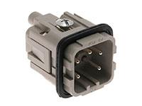 Ilme CKM04 - HAN 3A Male Insert Connector - 4+PE Poles - 21601002