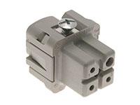 Ilme CKF03 - HAN 3A Female Insert Connector - 3+PE Poles - 21601001