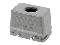 HAN 10B Connector Double Lock Housing - Straight outlet