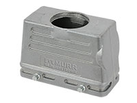HAN 16B Connector Double Lock Housing - Straight outlet