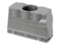 HAN 24B Connector Double Lock Housing - Straight outlet