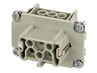 Murrelektronik B6 - HAN 6B Female Connector - 6 + PE Screw Contacts - 70MH-EB006-DS03020