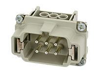 Murrelektronik B6 - HAN 6B Male Connector - 6 + PE Screw Contacts - 70MH-ES006-DS03020