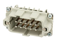 Murrelektronik B10 - HAN 10B Male Connector - 10 + PE Screw Contacts - 70MH-ES010-ES03020