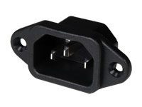 IEC 60320 C14 Chassis-Mount Male Connector