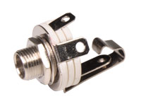 CONECTOR JACK 6,3MM BASE HEMBRA PANEL 2 POLOS ABIERTA
