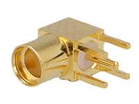 Conetor MMCX Base Fêmea Cotovelo Circuito Impresso - MMCX-11