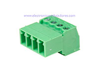 3.81 mm Pitch - Pluggable Right Angle PCB Male Terminal Block 4 Contacts
