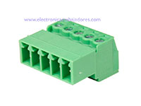 3.81 mm Pitch - Pluggable Right Angle PCB Male Terminal Block 5 Contacts