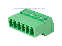3.81 mm Pitch - Pluggable Right Angle PCB Male Terminal Block 6 Contacts