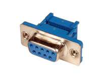 D-sub Female Crimp Connector - 9 Poles - Flat Cable