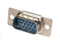 D-sub Male High Density Connector - 15 Poles with Solder Connection - 08,160/15