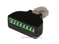 Conector Telefónico Aéreo Macho 8P8C - con Tornillos - 4052
