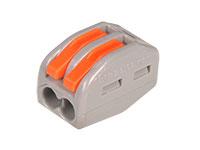Conector Emenda 2 Contatos - 0,08 .. 4 mm²