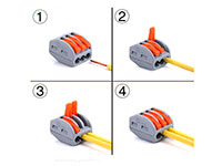 Push Splice Cable Connector Conductor - 3 Contacts - 0,08 .. 4 mm²