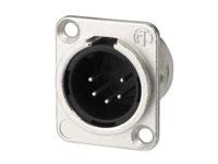 Neutrik NC5MDL1 - 5 Pole Male Panel-Mount XLR Connector