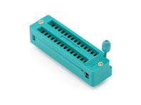 Support de Circuit intégré à force d'insertion nulle 28 Pòles - ZIF - 7,62 mm - PRT-09175
