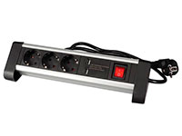 3 Socket Multi-Plug Adapter and 2 USB Charger - Lateral gRounding - EBP03DSUN-G