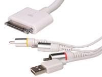 Cable USB Macho+Jack 3,5 Estéreo Macho a Dock Macho, 1,0 m