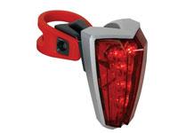 Luz Traseira para Bicicleta - 5 LEDs Vermelhos - EBL4
