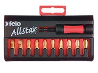 Felo AllStar TiN Bit Box Universal - Jeu d'Embouts Felo Star avec 10 Pièces en Titane - 020 901 76
