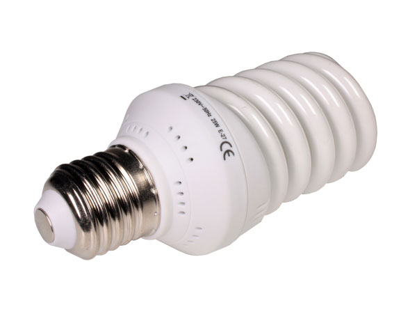 Energy saving light bulb E27 25 W spiral 3200k