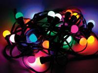 Cadeia de Luz festiva - uso Interior e Exterior, 20 Luzes - XMPL10RGB
