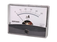 Analogue Current Panel Meter 60 x 47 mm - 50 µA dc - AIM60005